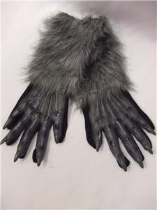 Werewolf grey Gloves ~ Paws ~ Wolf ~ Monster ~ one size ~ Halloween