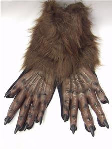 Werewolf Brown Gloves ~ Paws ~ Wolf ~ Monster ~ one size ~ Halloween