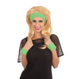 Neon green headband set