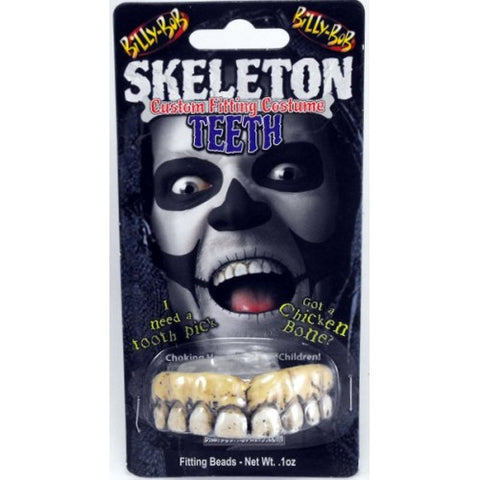 Billy Bob Skeleton Teeth with adhesive  Special Effects Make-up Teeth Halloween
