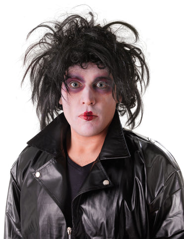 Edward wig - Halloween Psycho - 1990's movie 90's mans black wig