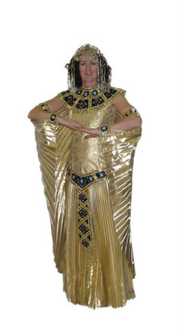 Gold Cleopatra Fancy dress ~ Deluxe Costume ~ Hire ~ Sizes 12 and 14 ~ 16