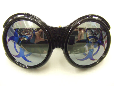 Biohazard Goggles ~ Steampunk ~ Glasses ~ Black ~ Scientist ~ Inventor