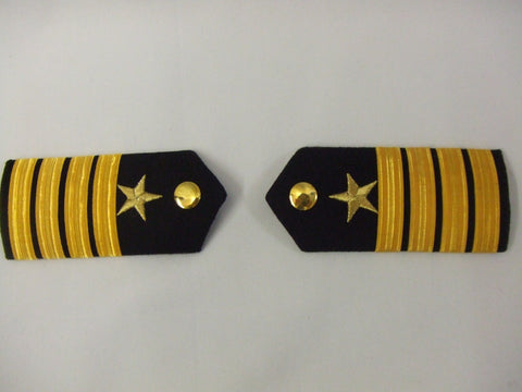 Epaulettes Officer Naval  Pantomime  Prince Charming  Military Black and Gold stripes