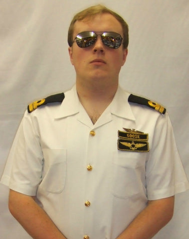 Top Gun ~ Goose  ~ Uniform ~ 1980's fancy dress ~   Hire ~ 42
