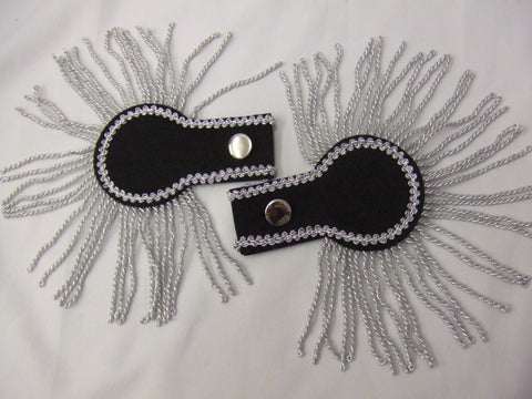 Epaulettes ~ Black and Silver ~ 18th Century ~ Pantomime ~ Prince Charming ~ Military