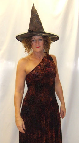 Witch ~ Copper velvet ~ Hire ~ Size 12 ~ Halloween