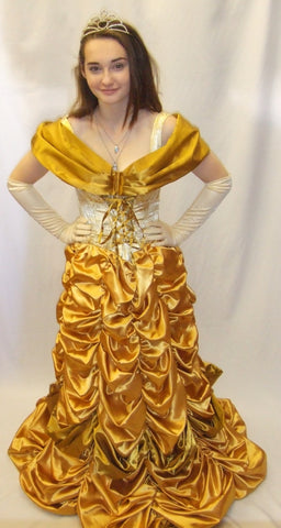 Belle Gold Dress ~ Princess fancy dress ~ Hire ~ size 8 - 10 ~ Beauty and the beast