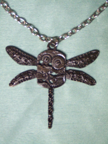 Steampunk Costume Jewellery ~ Dragonfly Pendant ~ Necklace ~ Victoriana