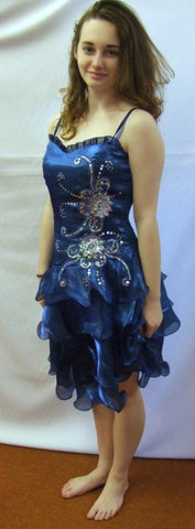 Showgirl  fancy dress ~ Sensation Blue  ~ Hire ~ Size 12