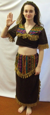 Aztec Squaw ~ Pocahontas ~ Tiger Lilly ~ Native American ~ Hire ~ Size 12 - 14