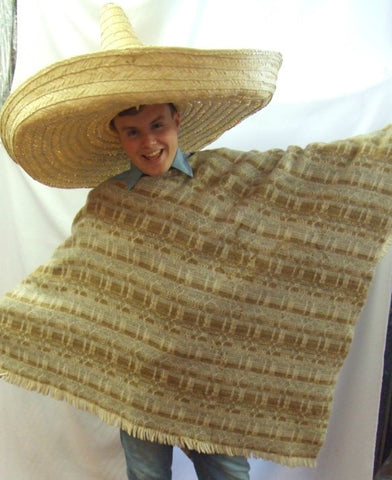 Mexican Poncho ~  Spaghetti Western  ~ Hire ~ One size