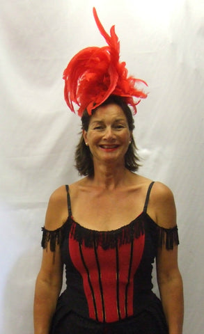 Lola ~ Showgirl Costume ~ Western ~ Red and Black ~ Sizes 12 - 20 ~ fancy dress ~ Hire