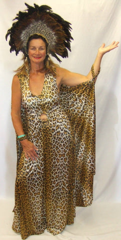 African Queen Dress ~ Showgirl  fancy dress ~ Hire ~ Size 12 ~ 14