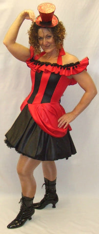 French Can Can ~  Fancy dress ~ Dancer ~ Showgirl ~ Hire ~ Size 12-14