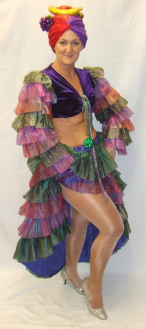 Mardi Gras ~ Showgirl ~ Fancy dress ~  Hire ~ Size 12