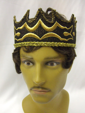 King Crown Black / Gold ~ Medieval ~ Prince ~ Game of Thrones ~ Conan