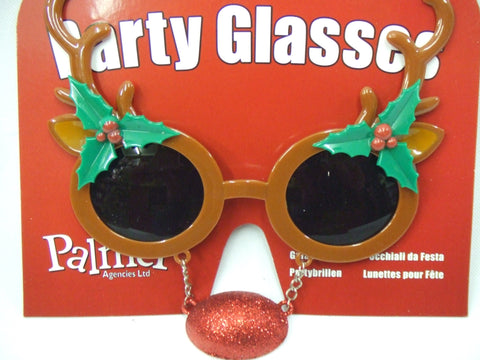 Novelty Reindeer Glasses with Nose ~ Stocking Filler ~ Xmas specs