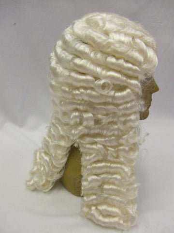Deluxe White  Judge Wig ~ Lappet Wig ~ Court ~ 18th century ~ Theatrical quality