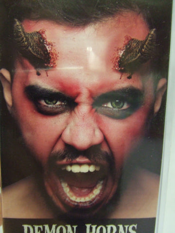Demon horns ~ Pre-painted ~ Devil ~ Goat ~ Ghoulish Prosthetic ~ Halloween make-up