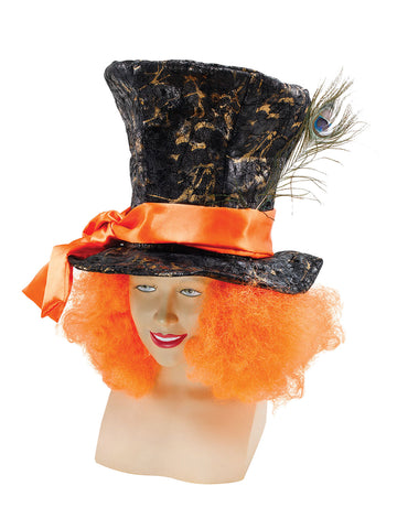 Mad Hatter ~ Top Hat with Orange Wig ~ Alice in Wonderland ~ Book week