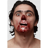 Meat lover ~ Rotten Jaw ~ Ghoulish latex appliance ~ Halloween make-up Zombie