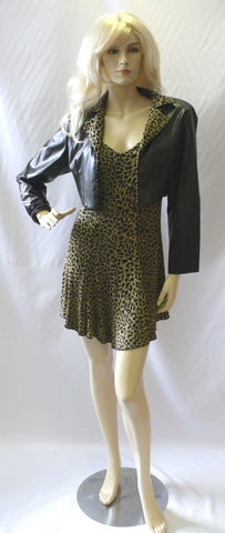 Pamela ~ 1980s leopard print Dress  ~ Fancy dress Hire ~ Size 10 - 12