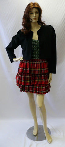 1980s Tartan Dress ~  80s ~ Hire ~ Size 14