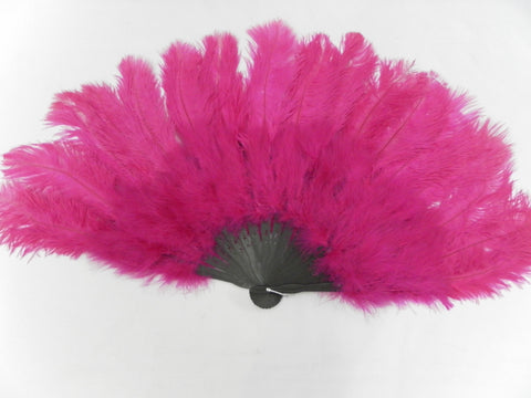 Feather Fan Cerise pink Extra large Fan Dance  Burlesque Cabaret Showgirl Moulin Rouge