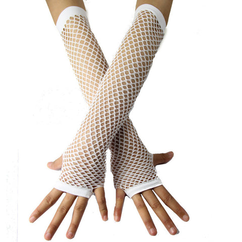 1980's 1990's Neon Fishnet Gloves various colours  one size