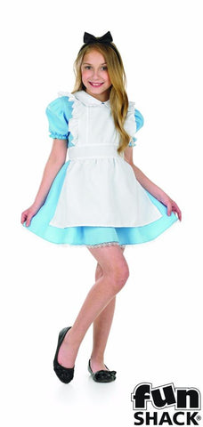Alice In Wonderland Girls Fancy Dress ~World book day  Small - Age 4 - 6