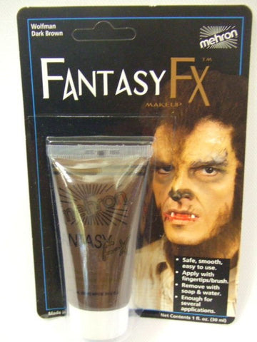Mehron Fantasy FX make-up ~ Face paint ~ wolfman dark brown  ~ halloween