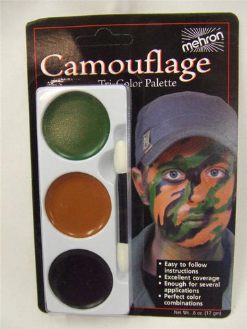 Camouflage make-up ~ tri-colour palette ~ army ~ face paint ~forces ~ Hen ~ Stag