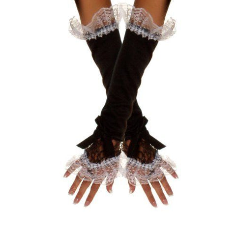 French Maid finger-less gloves long elbow length