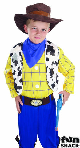 Cowboy kid Fancy dress  Woody  Book Week  Boys Medium  Age 6-8