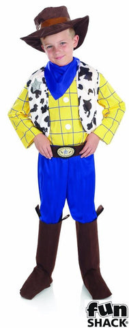 Cowboy kid Fancy dress  Woody  Book Week  Boys large  Age 8 - 10