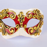 Venetian mask ~ Red and gold ~ 121/5RSA ~ Masquerade Ball ~ 18th century