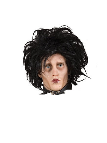 Edward Scissorhands  wig - Halloween Psycho - 1990's movie 90's mans black wig