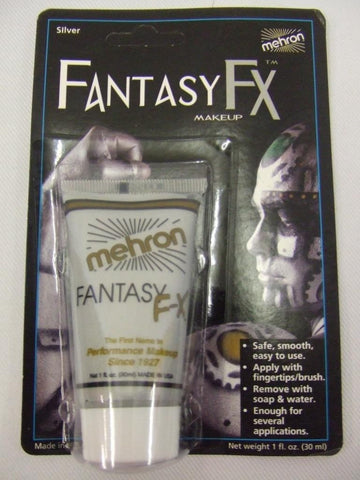 Mehron Fantasy FX make-up ~ Face paint ~ Silver ~ Metallic ~ Robot ~ Space