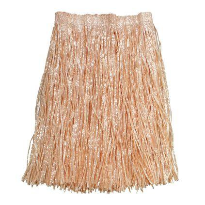 Grass Skirt Hawaiian extra long natural colour Adult size