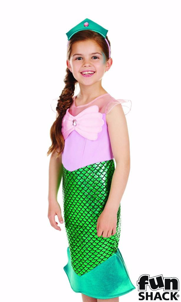 Childrens Mermaid Costume Girls Fancy Dress Book Day Outfit