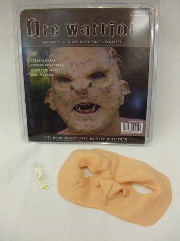 Prosthetic Orc Warrior Mask ~ Warlock ~ Latex rubber ~ Mythical ~ Lord of the Rings