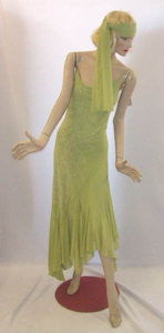 1920s Gown and Wrap ~ Hire ~ Size 12 ~ Green