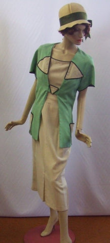 1920s Day Dress ~ Dress and jacket ~  ~ Size 10 ~12