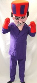 Dastardly ~  1970s fancy dress ~ cartoon ~ Hire ~ Mascot costume ~ Dick