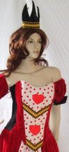 Red Queen Costume ~ Alice ~ Hearts ~  Hire ~ Size 12 / 14