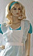 Alice Costume  ~ Turquoise ~  Hire ~ Sizes 12 /and 14