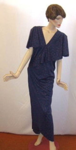 1920's / 1930's Blue  Evening dress ~ 18 ~  Hire