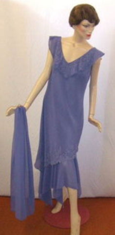 1920's / 1930's Lavender  Evening dress ~ 16 ~  Hire