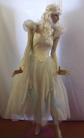 Ice Maiden ~ White Witch ~ Good Fairy costume ~ Hire ~ Size 6 - 8